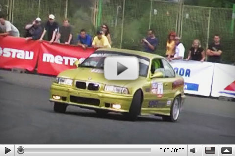 VIDEO King of Europe Drift Series 2008 Prague Strahov